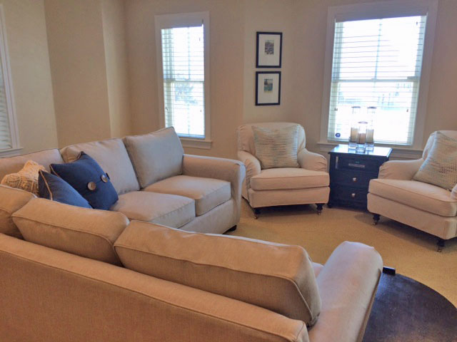 Matching Chairs and Sectional featured work Sweet Pea's