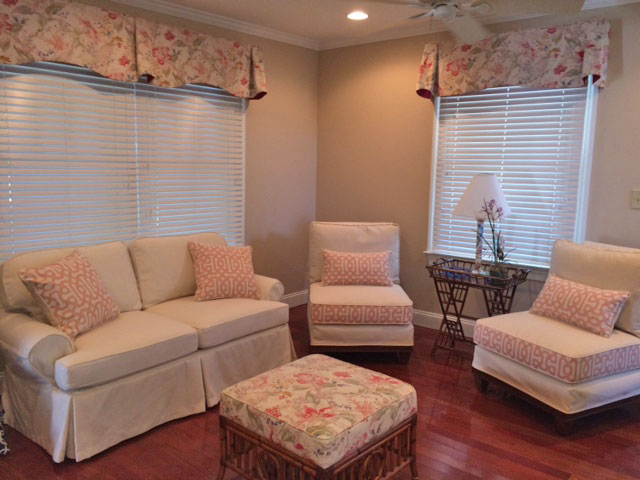 Slipper Chairs and Loveseat