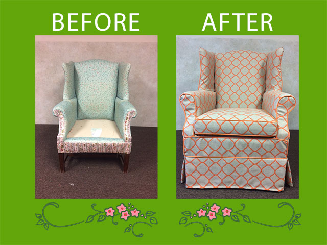 Before and After: Wing chair gets a stylish new coat