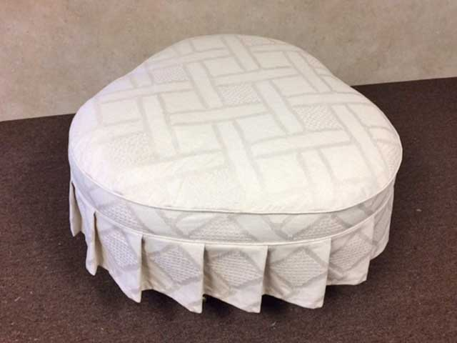 Ottoman with an unusual shape
