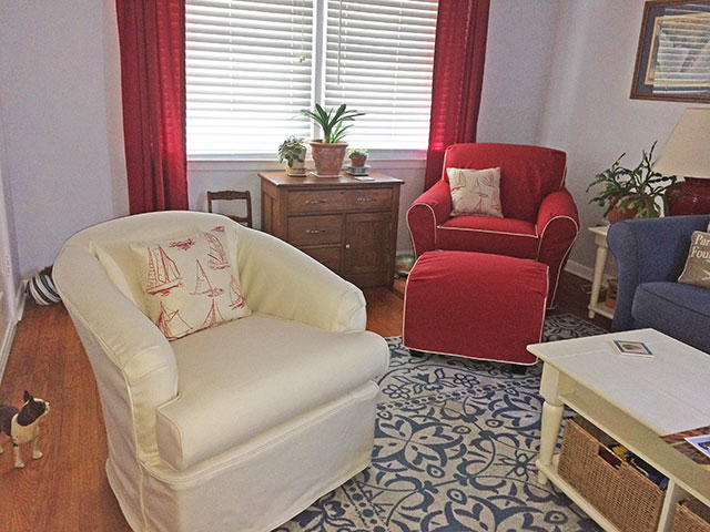 Club Chairs and Ottoman Slipcovers