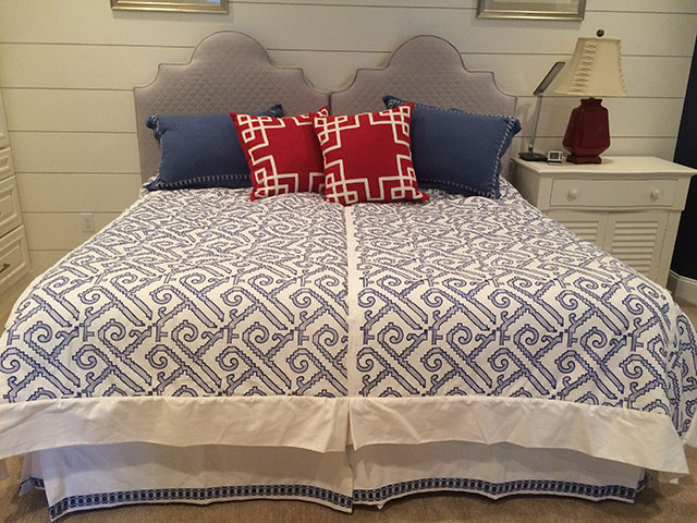 Custom bedding sewn by Sweet Pea's