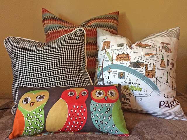 Custom interest pillows