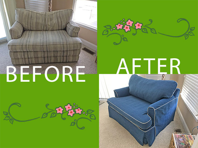 Before and After Love-seat