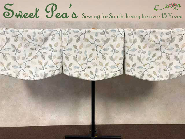 Shaped Box-Pleated Valance