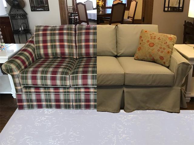 six-cushion sofa
